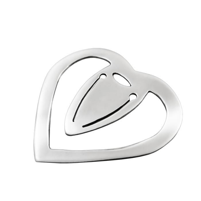 We created bookmarks in the shape of the heart, which is undoubtedly one of the most popular symbols on the planet. The shape of the symbol of the heart is actually inspired by the stem of the plant silphium.  Dimensions: 3cm x 3cm x 2mm Silver 925°