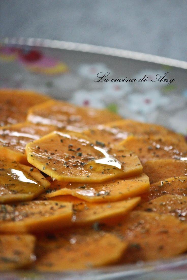 La cucina di Any:  Carpaccio de dovleac crud,ulei masline