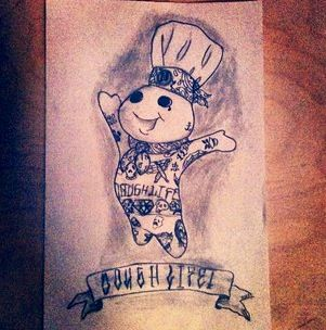 pillsbury doughboy tatted up my sketches pinterest pillsbury. Black Bedroom Furniture Sets. Home Design Ideas