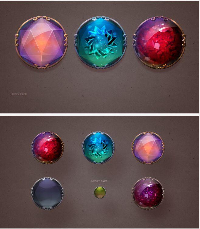 游戏UI 魔法 水晶 按钮-UI中国-专...
