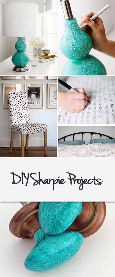 """DIY Sharpie Projects • Home decorating projects you can do with just a Sharpie pen and some imagination!"""