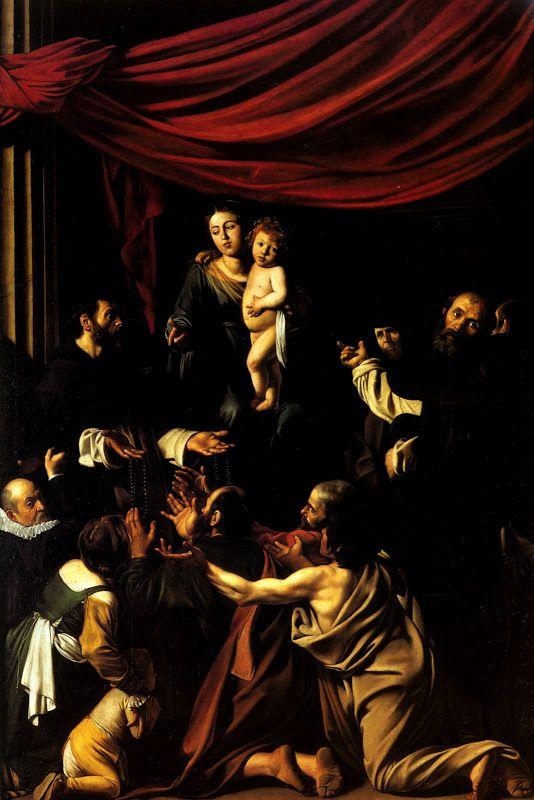 1607 Le Caravage Madone au rosaire, 364,5x249,5 cm