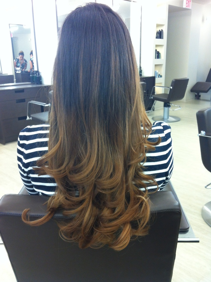 Hair Affair: Ombre Hair Color / Need to curl Maggie's Hair like this