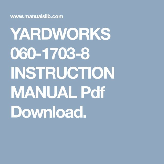The 25 best manual lawn mower ideas on pinterest tennis play yardworks 060 1703 8 instruction manual pdf download fandeluxe Images