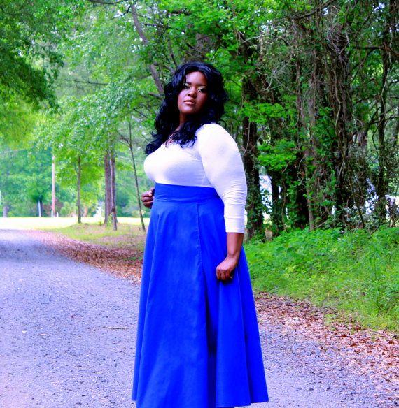 High Waist Plus Size Maxi Wrap Skirt  2  26  by aconversationpiece, $87.00