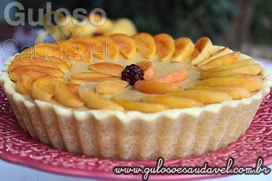Cheesecake de Pêssego com Coulis de Amora » Receitas Saudáveis » Guloso e Saudável