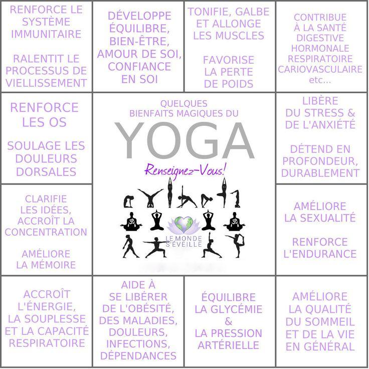 Les bienfaits du Yoga | YOGA Le Monde s'Eveille Grâce à Nous Tous ♥