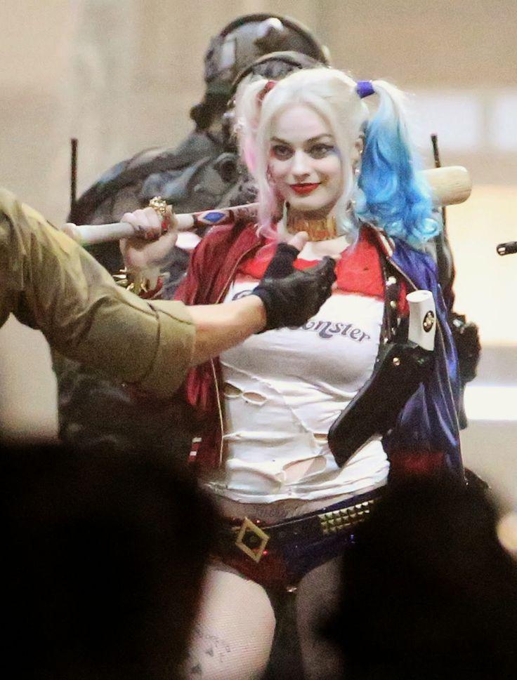 Margot Robbie 'Harley Quinn' Suicide Squad Set Photos ...