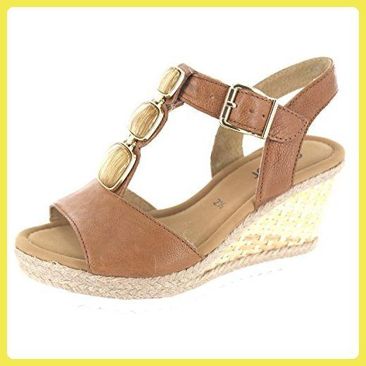 Gabor Fashion Damenschuhe 45.792.24 Damen Sandalette Sandale Leder (Glattleder) Braun (cognac), EU 40.5 - Sandalen für frauen (*Partner-Link)