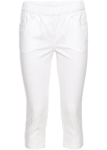 Τζιν κάπρι Λευκό twill John Baner JEANSWEAR | 24.99 € | bonprix