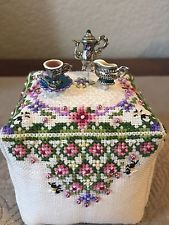 Just Nan Finished Cross Stitch Ornament Cube Tea With Honey