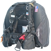 Zeagle Ranger BCD with Ripcord Weight System, Black