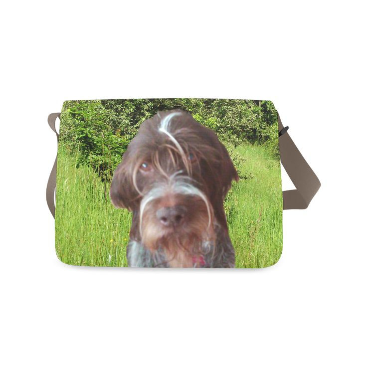 Dog and Flowers Messenger Bag. FREE Shipping. #artsadd #bags #dogs