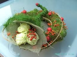bloemstukken met mos