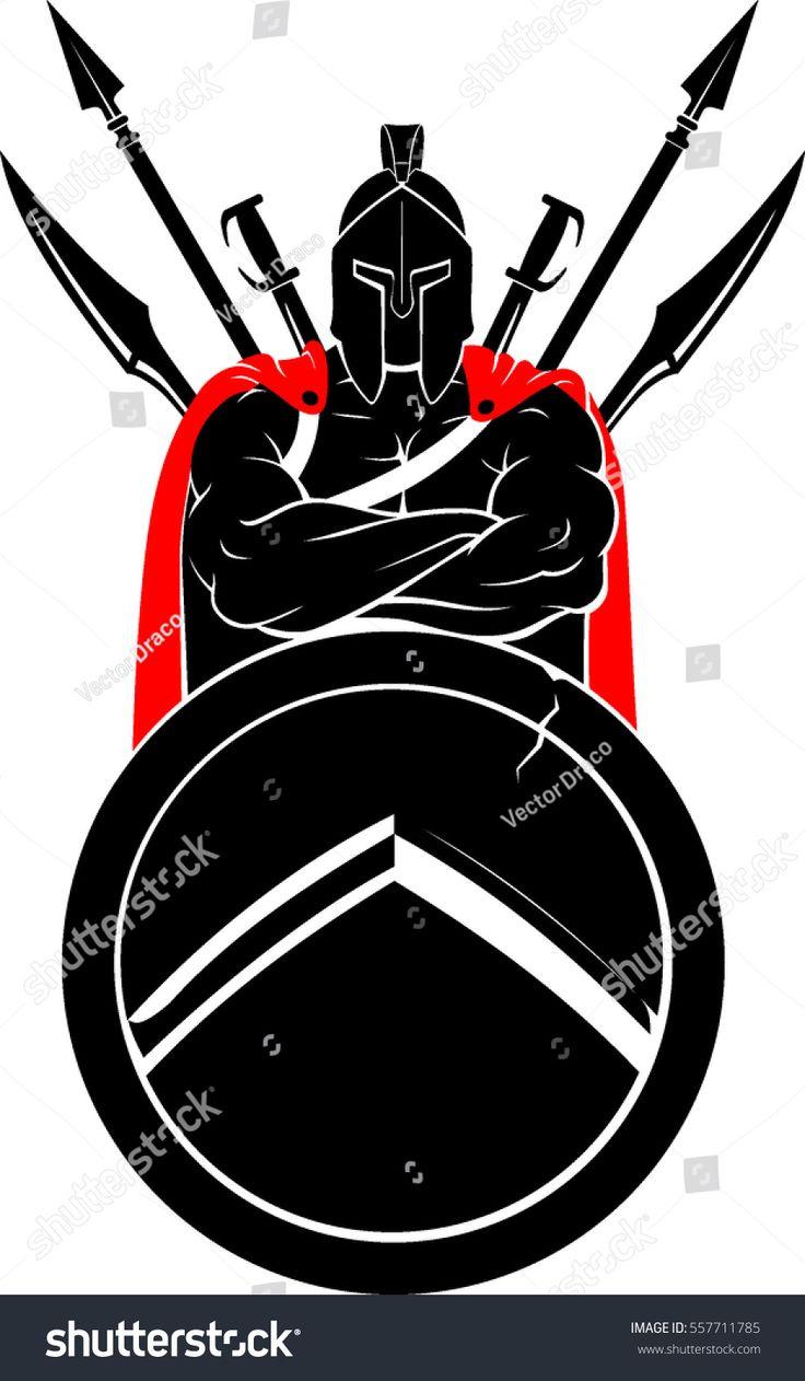 Cross Armed Spartan Tatuagem guerreiro Desenhos para