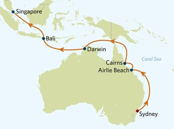 14 Night Sydney to Singapore Cruise on the Celebrity Century