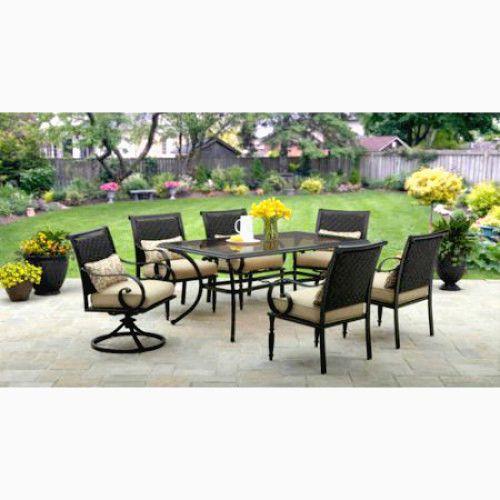 Outdoor Dining Set 7Pc Patio Furniture Swivel Cushioned Chairs Table Yard Garden #SmartDealsMarket
