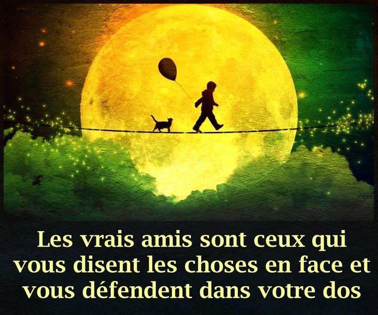Les vrais amis. #citation #citationdujour #proverbe #quote #frenchquote #pensées #phrases #french #français