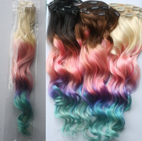 Full+Set+100+grams+Bundle+Clip+In+Pastel+Hair+by+Cloud9Jewels,+$250.00