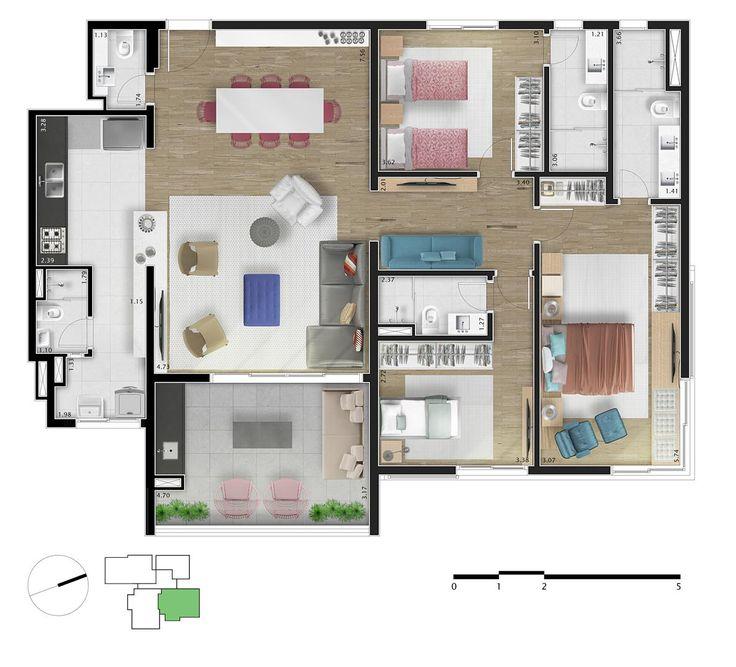 295 best planta residencial images on Pinterest Apartments, House - fresh 37 blueprint apartments