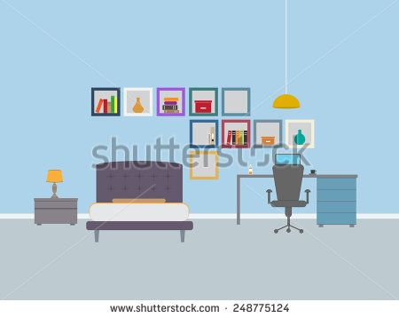 Dorm room interior