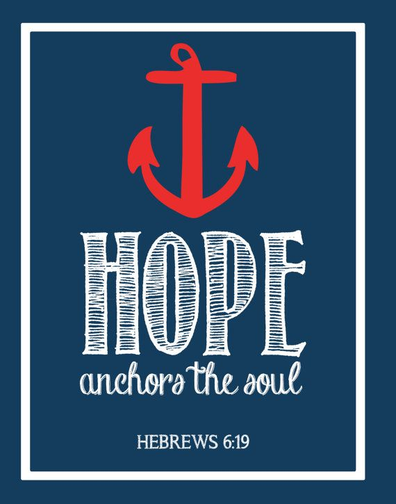 Lovely Hope Anchors The Soul   Bible Verse Wall Art On Etsy, $6.50