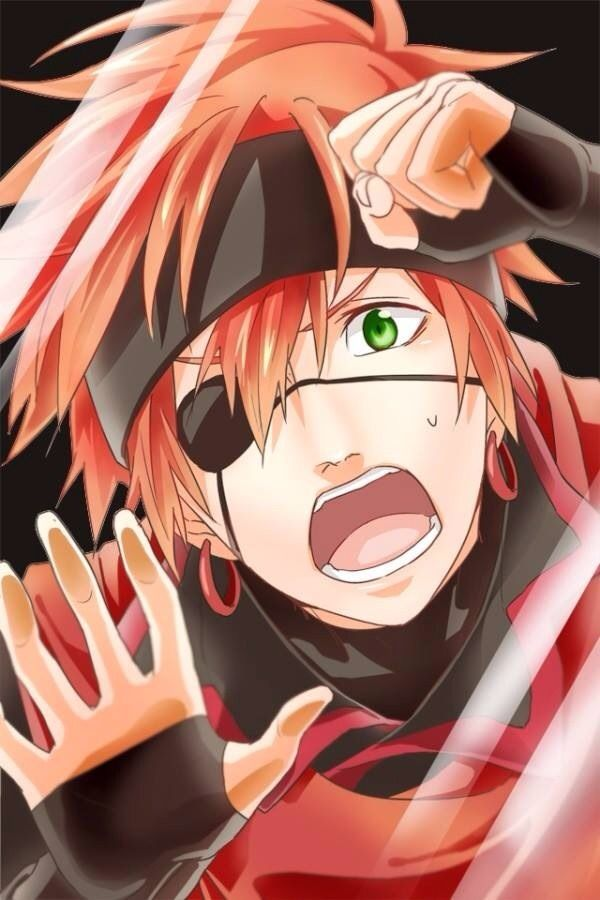 Not sword art online..ITS LAVI from D. Gray Man ^^ I never realized how someone could mistake Lavi for Klein but I totally see it now.