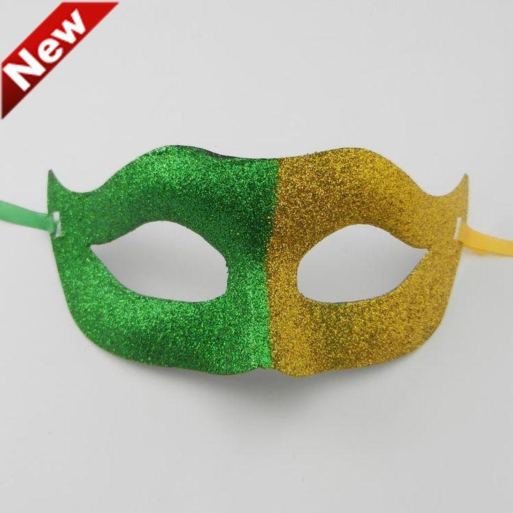 В продаже любителей маска Бразилия флаг золото печати карнавальные маски партия handmake марди-гра костюм рождественский подарок бесплатная доставка