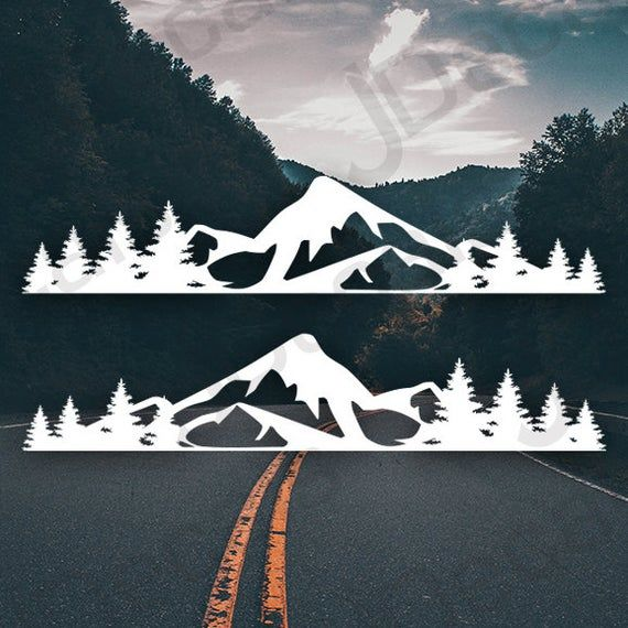Subaru Jeep Suv Forest Mountain Decal Set V2 2 Pc Vinyl Decal In 2020 Mountain Decal Vinyl Decals Car And Motorcycle Design