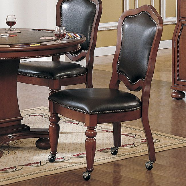 10 Best Chairs On Casters Images On Pinterest  Dining Room Chairs Glamorous Dining Room Chairs On Wheels Decorating Inspiration