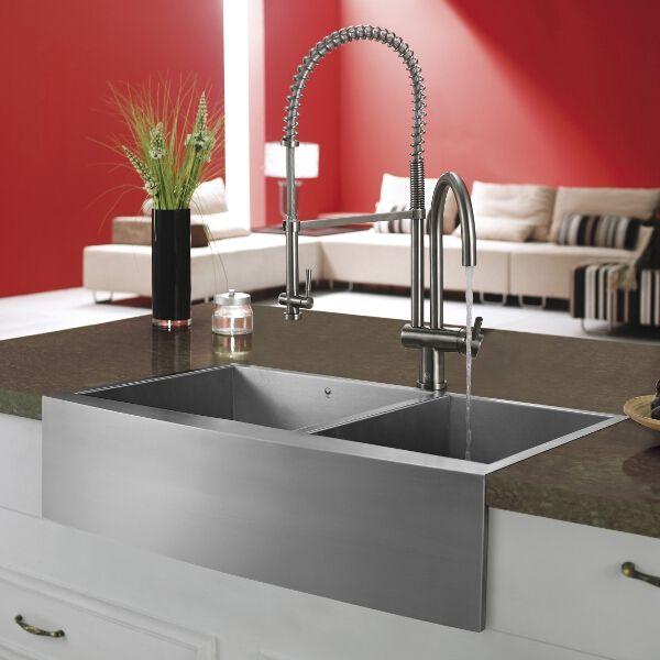 Vigo X Double Bowl Farmhouse Kitchen Sink