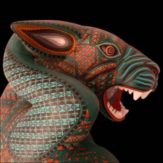 Cats in art: Culturas indígenas de México: alebrije zapoteca