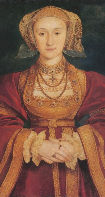 """Anne of Cleves in a portrait by Hans Holbein. Henry VIII agreed to marry her upon viewing this portrait, but when he met her said """"She is nothing so fair as she hath been reported."""" http://www.albumworks.com.au/telling-our-stories-1"""