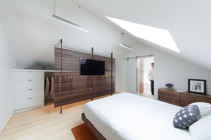 Attic renovation added a bedroom.