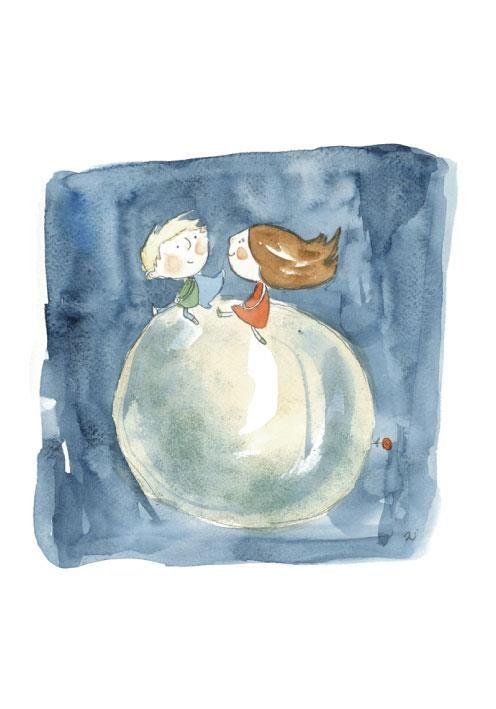 Agócs Írisz limted print, she is a famous hungarian childbook illustrator.