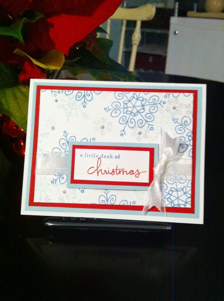 A Dash Of Christmas card. New Endless Wishes Photoploymer stamp set by ©Stampin'UP!™.  www.preciosdesigns.stampinup.net