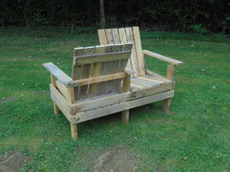 Le confident r utilisation bois de palette palettes for Fauteuil confident