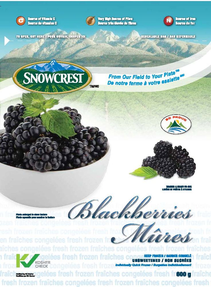 Snowcrest Package Design - Blackberries