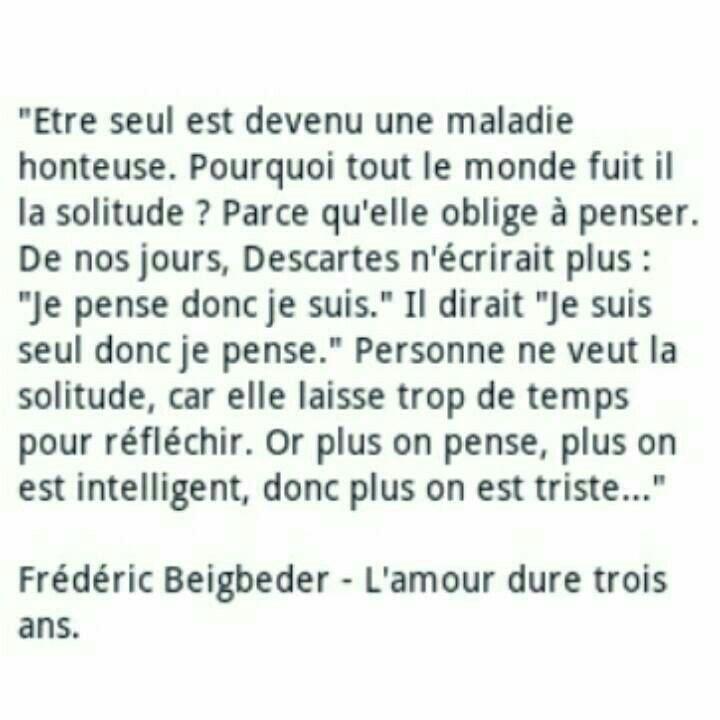 L' amour dure trois ans , Frédéric Beigbeder