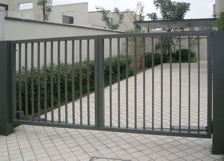 Backyard, Using Beautiful Iron Gates For Safety Of Your Home: Gray  Beautiful Iron Gates | For The Home | Pinterest | Flats, Iron Gates And The  Grey
