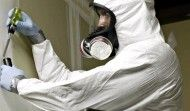 ASBESTOS SURVEYOR at work. CALL: 0131 6642107 info@surveyasbestos.org if you require a fast asbestos survey in Edinburgh