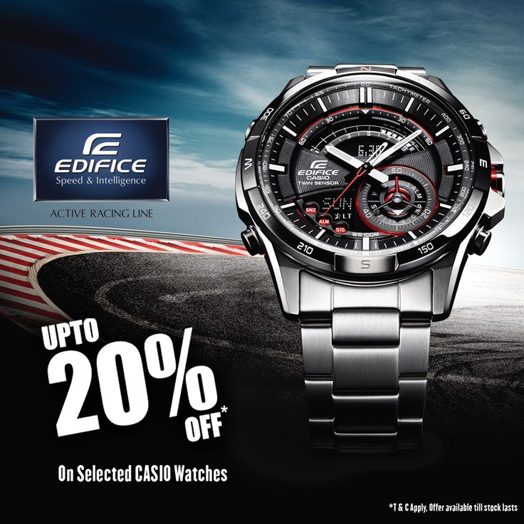 Upto 20% off on ‪#‎Casio‬ Edifice Collection!!