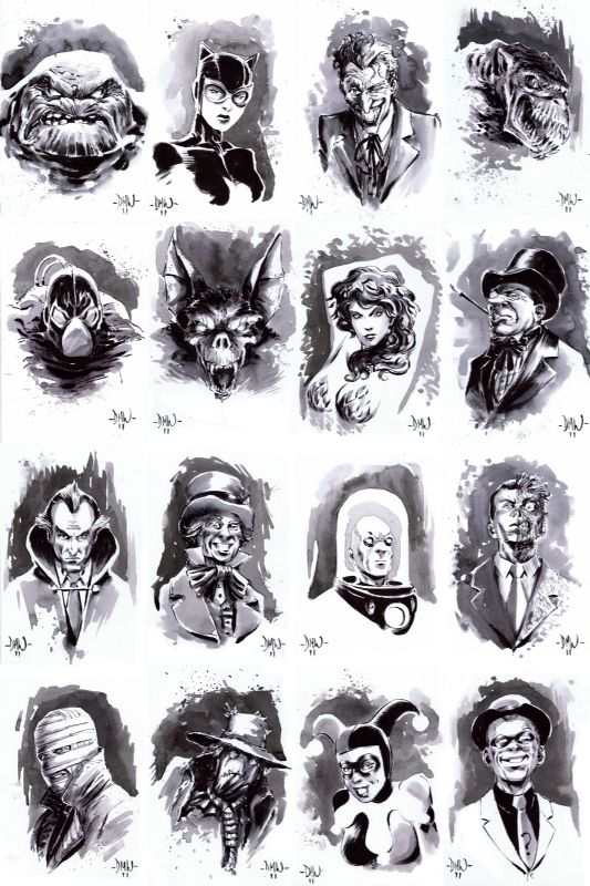 Bat Villians by Dave Wachter
