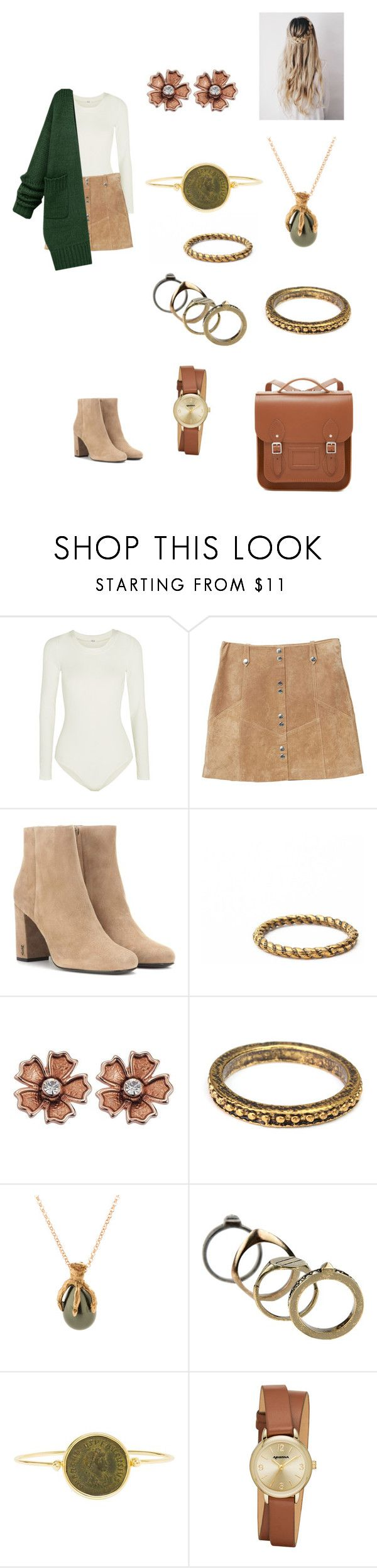 """""""Untitled #639"""" by paty8797 ❤ liked on Polyvore featuring Wolford, MANGO, Yves Saint Laurent, Valentino, Dubini, Arizona and The Cambridge Satchel Company"""