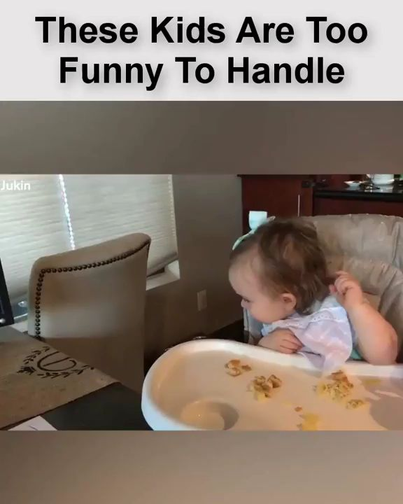 Funny dog baby laughs