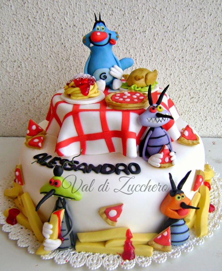 Top 39 best torta Oggy e i maledetti scarafaggi images on Pinterest  CH74