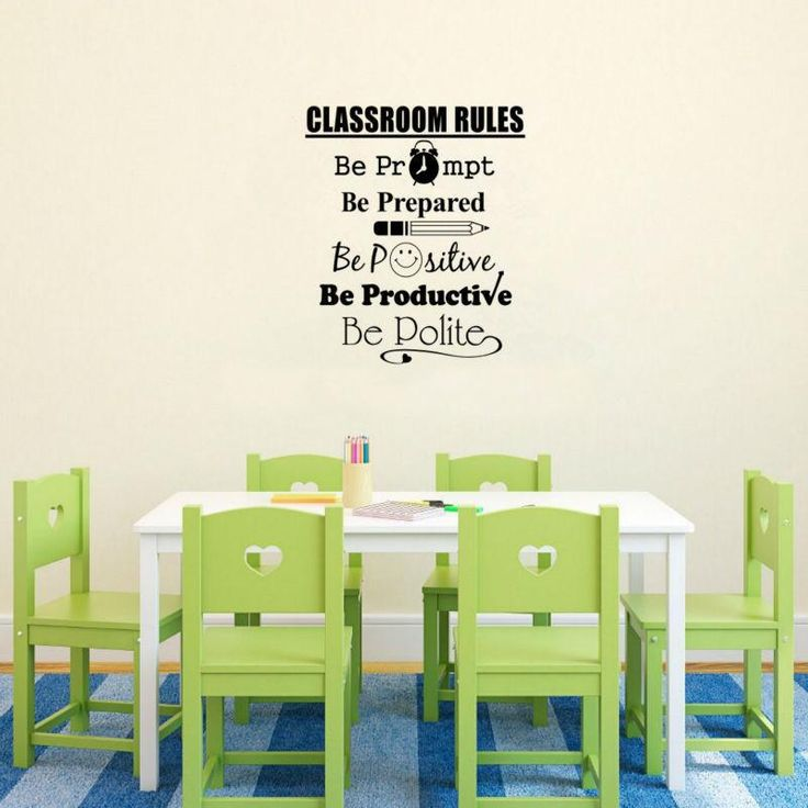 Reduced price + free shipping! Add personality to your classroom with this eye-catchinginspirational wall decal. Use it to let your studentsknowwhat's expect