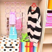 Multi dobrável 28 Circles lenço pendurado titular exibição cinto Tie Rack cabide prateleira(China (Mainland))