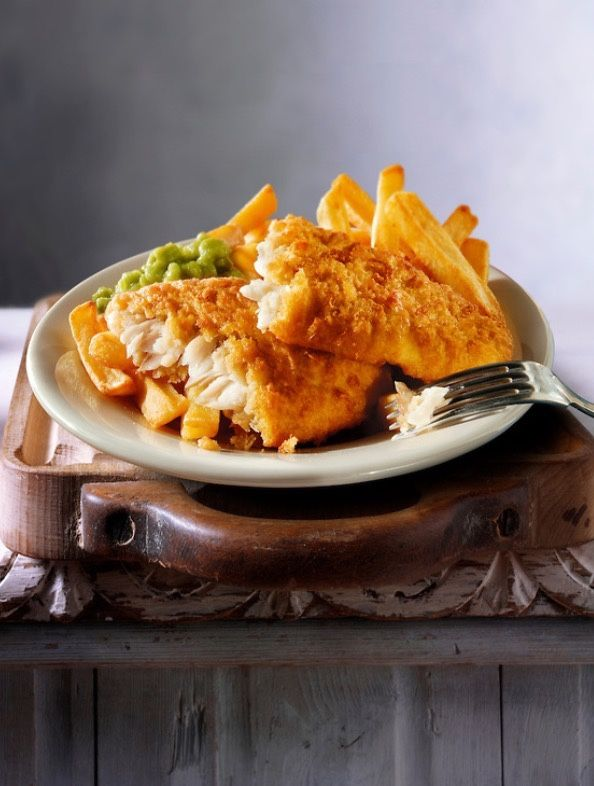 English classic - fish, chips and mushy peas