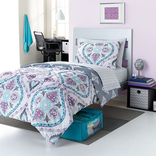 Simple by Design Damask 9-pc. Reversible Dorm Bed Set - XL Twin http://couponcodezone.com/stores/kohls/